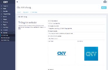 Cấu hình thông tin website
